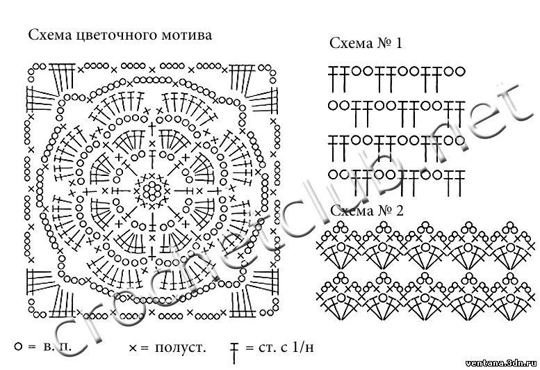 Вязание крючком схемы и журнал